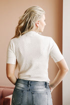 Coco Textured Knit Top in White