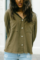 Carlton Button Down in Olive-FINAL SALE - Bohme