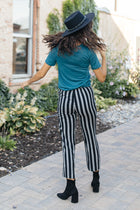 Lilou Knotted Stripe Pants in Black-FINAL SALE