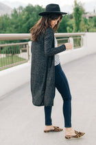 Irene Duster Cardigan in Black - Bohme