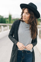 Irene Duster Cardigan in Black