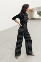 Zora Pinstripe Wide Leg Jumpsuit-FINAL SALE