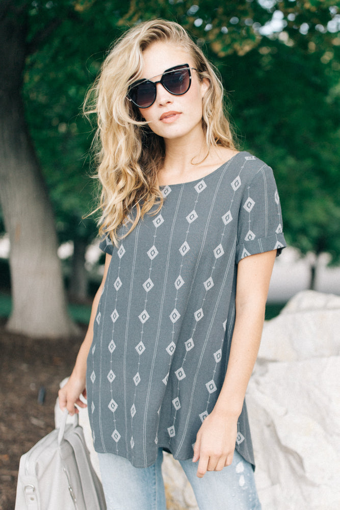 Arizona Tunic in Charcoal