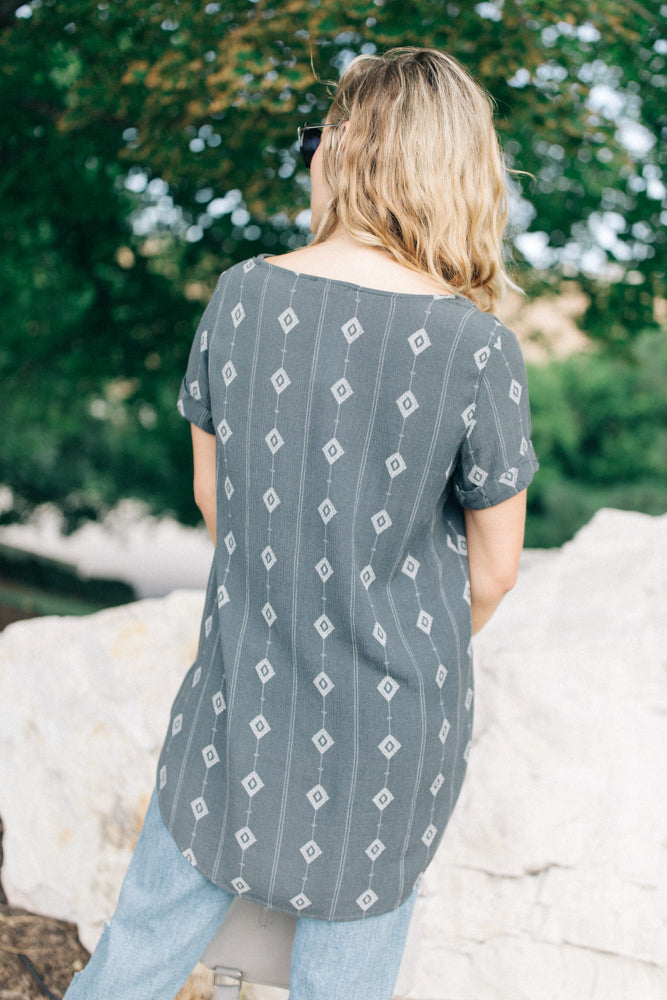 Arizona Tunic in Charcoal - Bohme