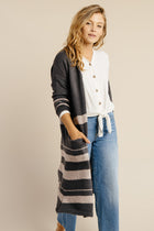 Open cardigan in charcoal Bohme