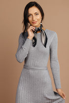 Jing Sweater Dress in Grey - Bohme