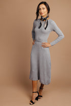 Jing Sweater Dress in Grey-FINAL SALE