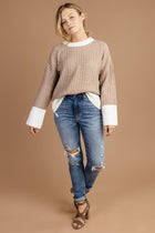Cozy Thoughts Sweater Taupe Bohme