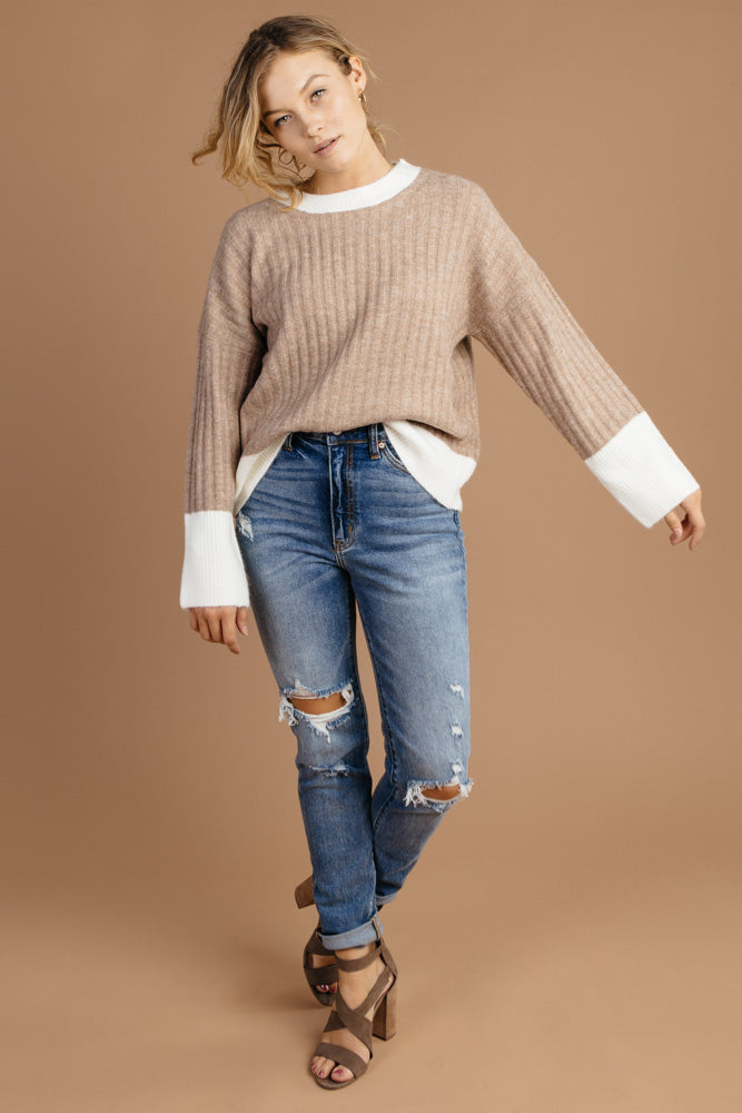 Color Block Sweater Bohme