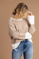 Cozy Thoughts Color Block Sweater - Bohme