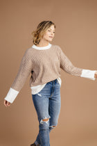 Sweater in Taupe Bohme