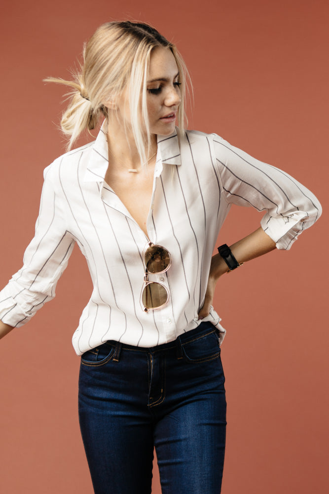 Spencer Striped Button Down Shirt