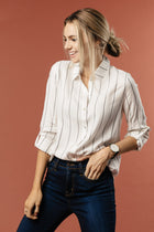 Spencer Striped Button Down Shirt - Bohme