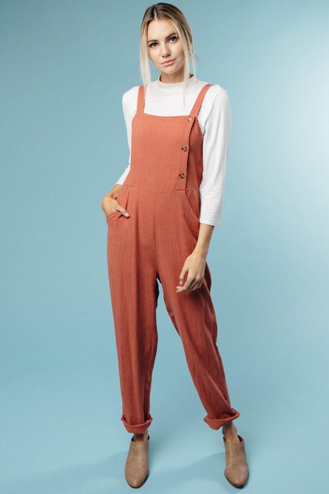 Avery Jumpsuit in Rust Bohme