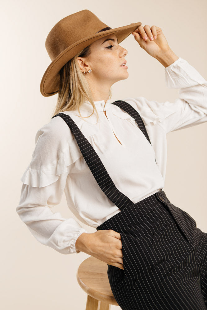Pinstripe Overalls-FINAL SALE