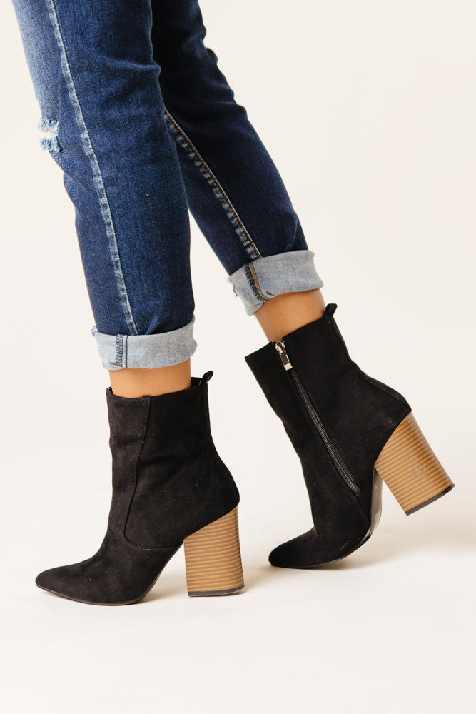 Ember Block Heel Boots in Black - FINAL SALE