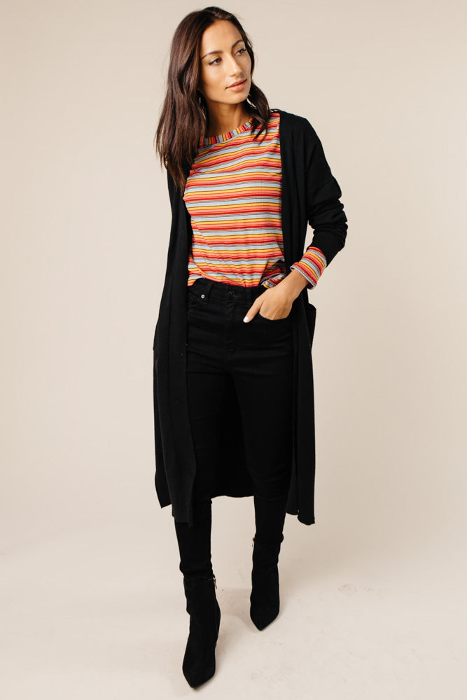 blue striped top bohme