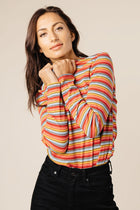 pink striped top bohme