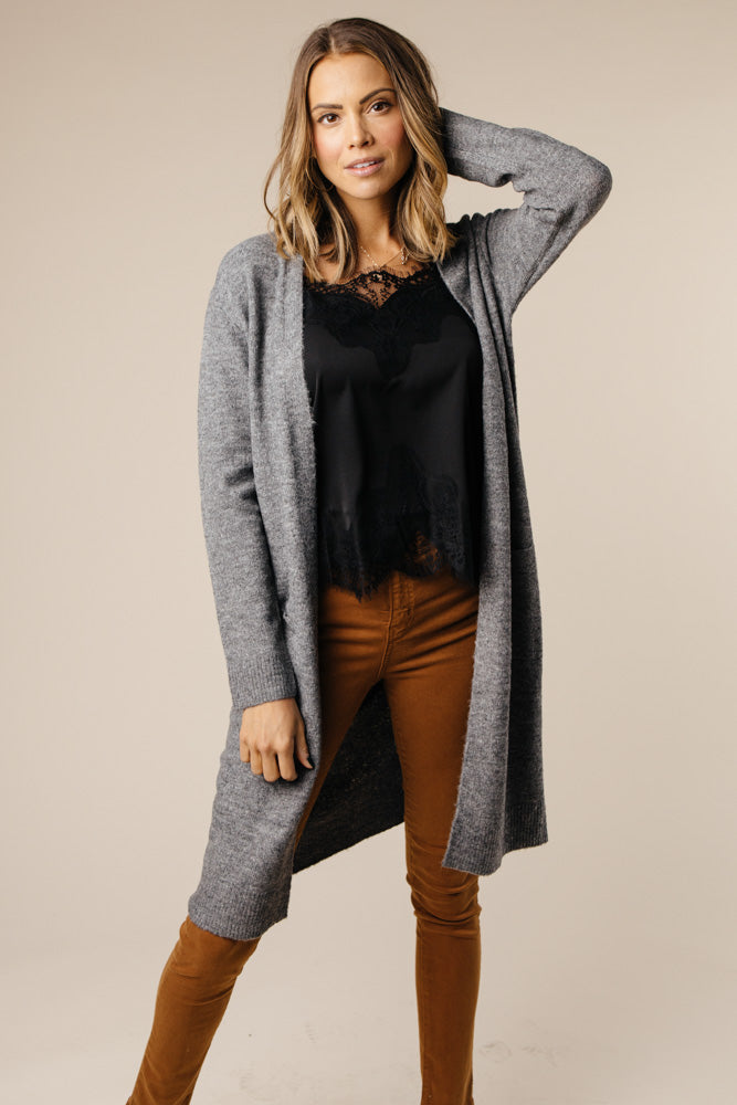 Dakota Charcoal Cardigan - Bohme