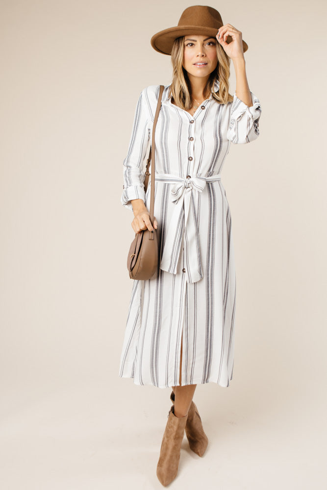 Finish Line Striped Dress - Bohme