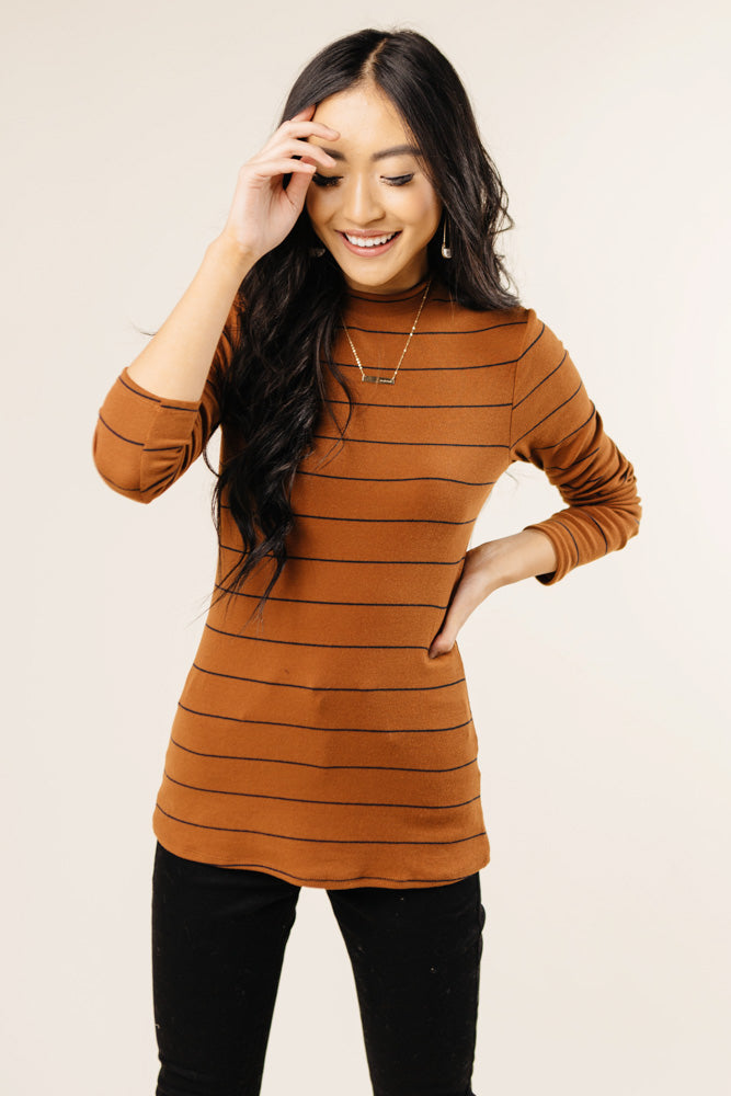 rust mock neck bohme