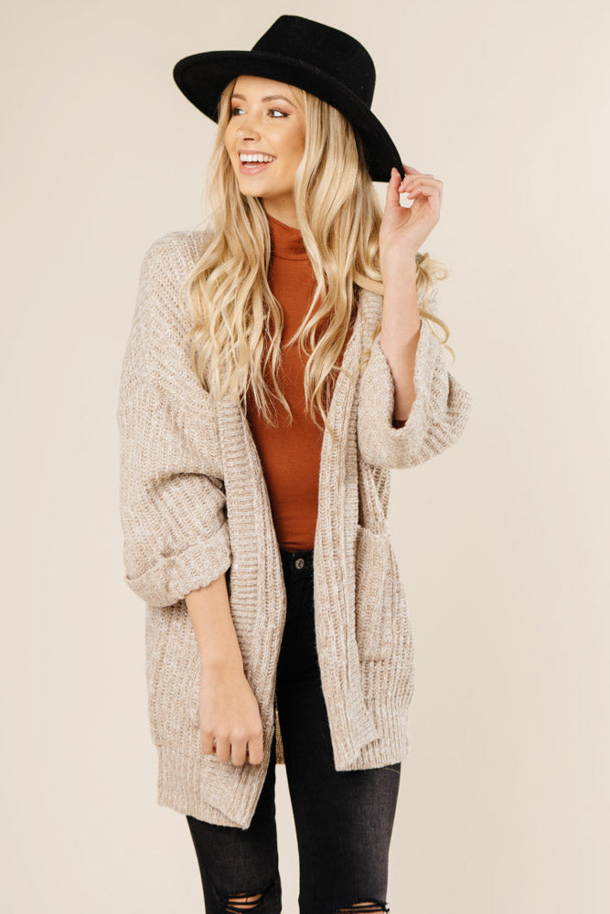 long oatmeal cardigan bohme
