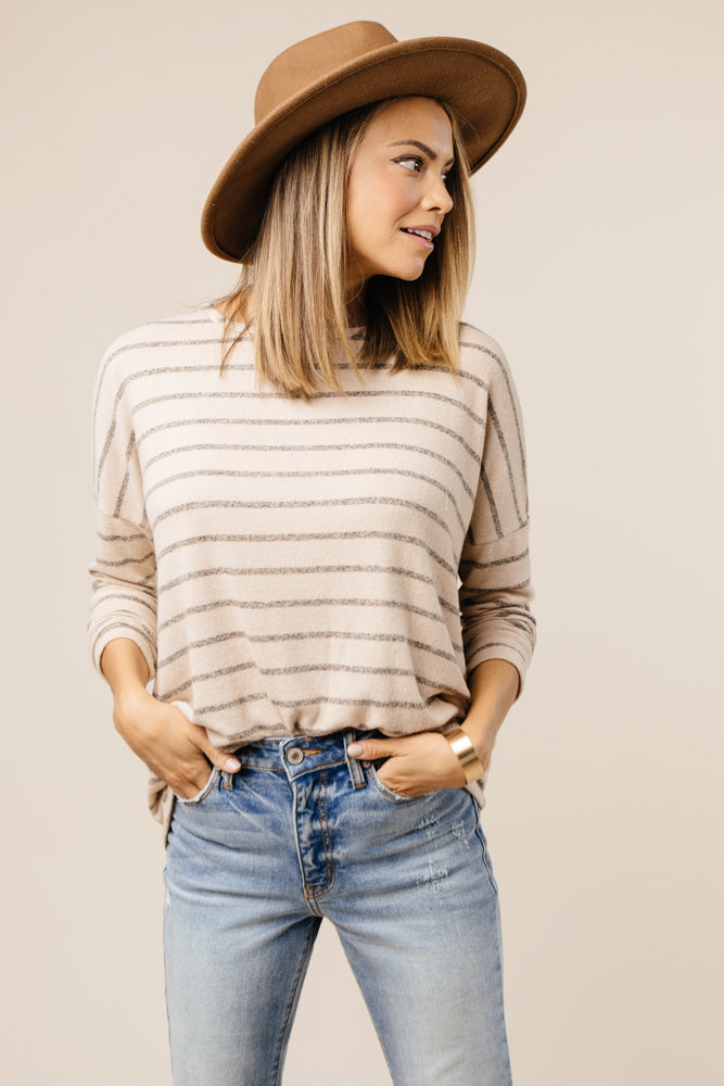 striped long sleeve bohme