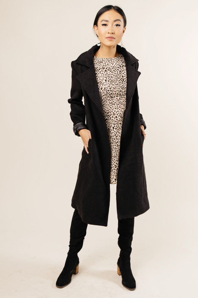 Berlin Wool Coat in Black