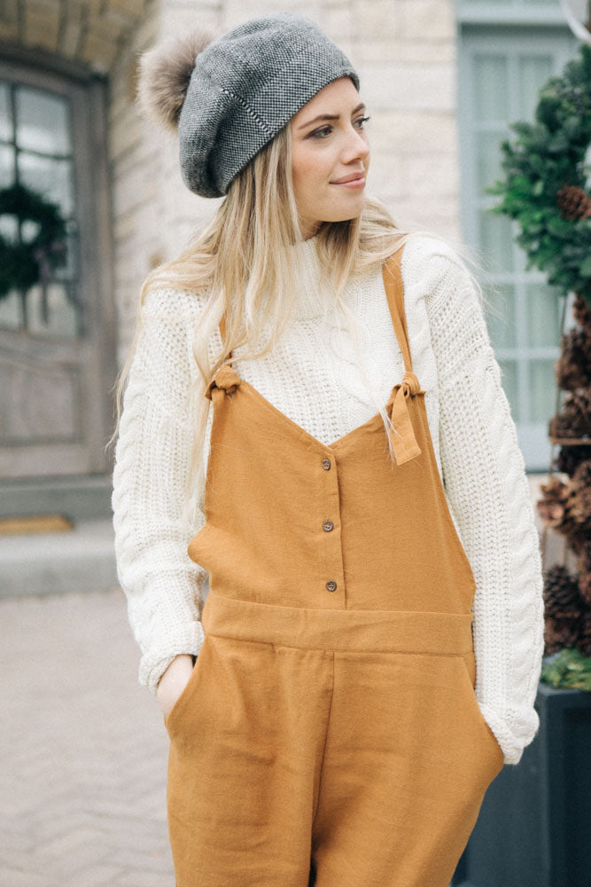 Softly Structured Cable Knit Sweater