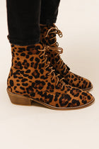 Cassandra Lace-Up Boots in Leopard - Bohme