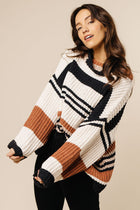 Striped oversize sweater