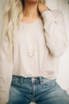 Weekender V-Neck Sweater in Oatmeal