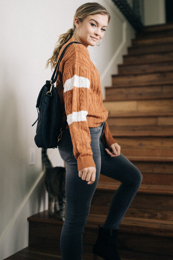 Want and Need Rust Sweater
