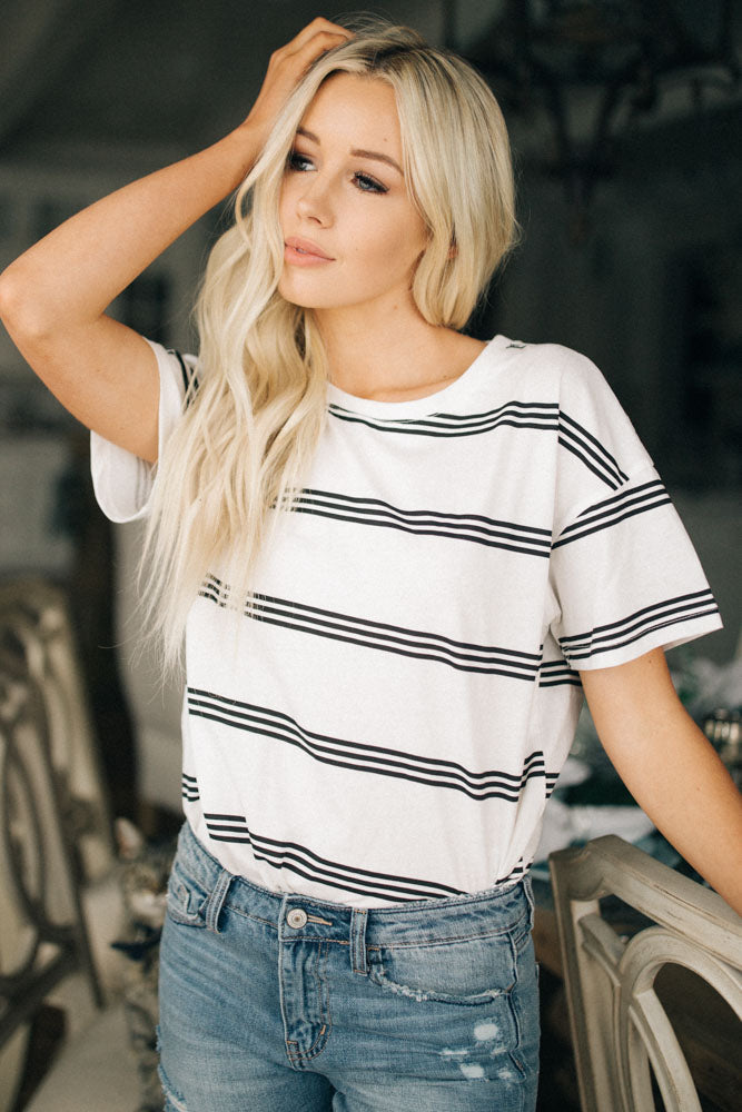 Striped Short Sleeve Bohme
