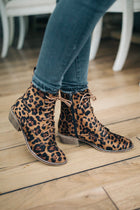 Cassandra Lace-Up Boots in Leopard - FINAL SALE