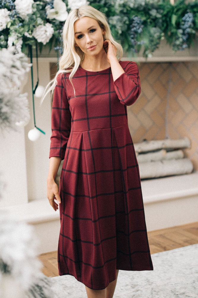 Hallie Windowpane Dress