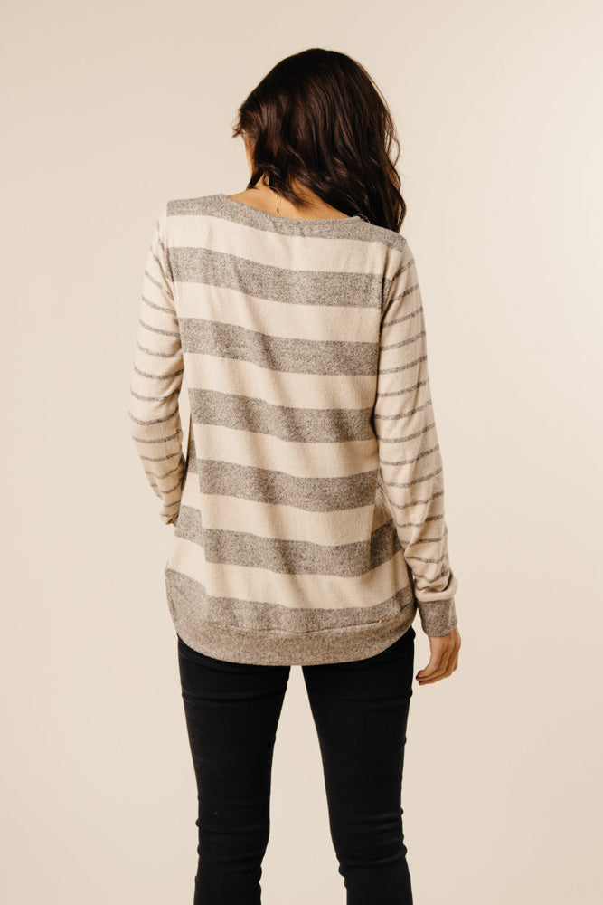 back view striped top bohme