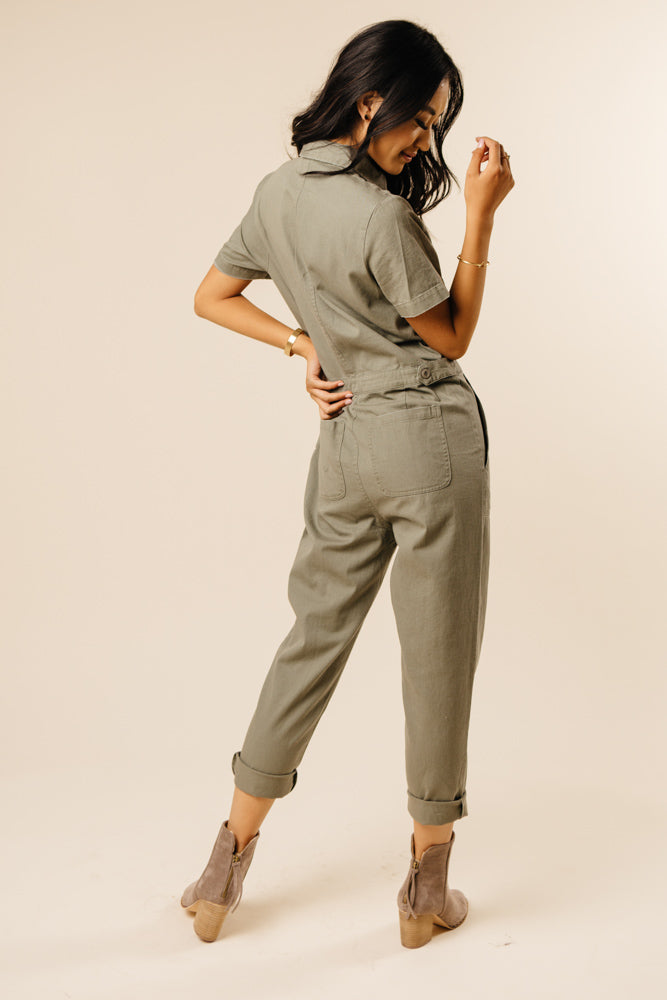 short sleeve jumpsuit bohme