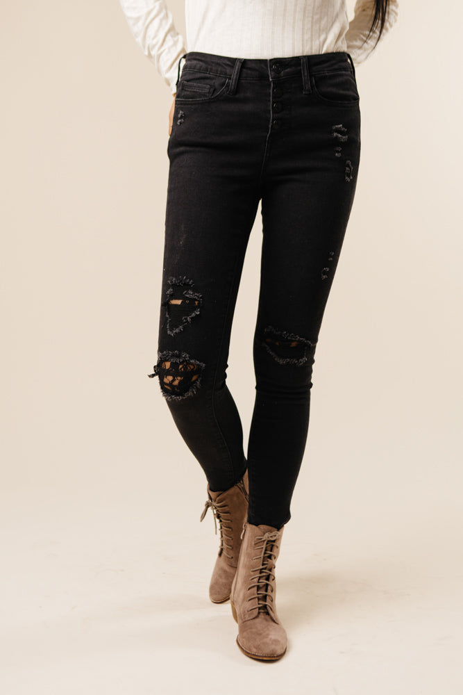 black distressed denim bohme