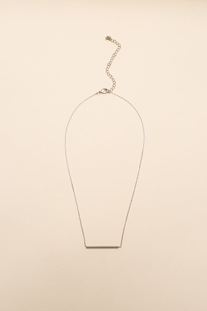 Roll By Necklace in Silver Bohme