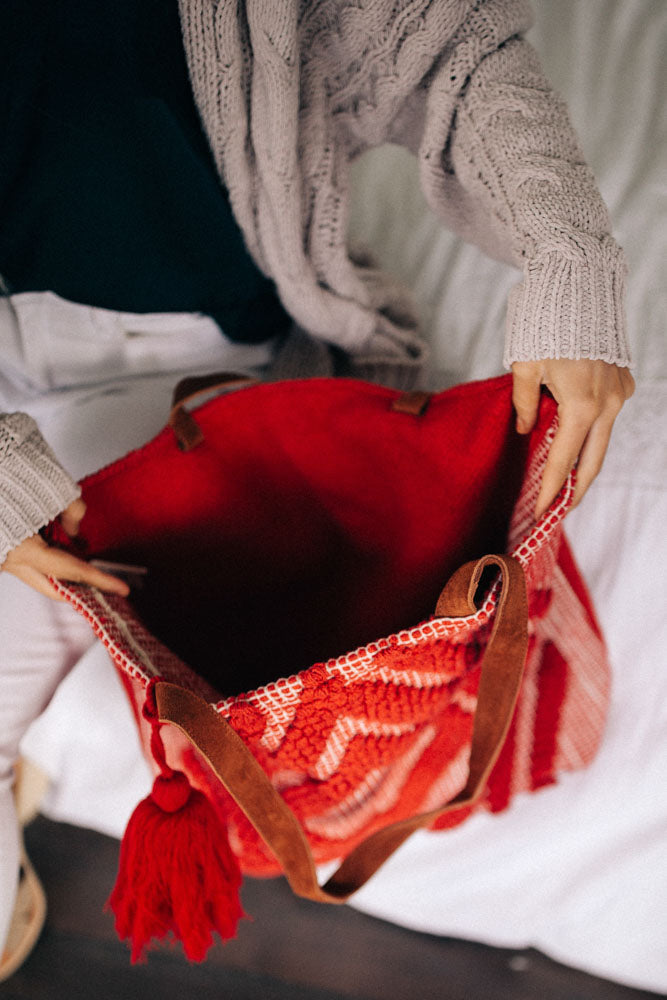 red tote bag bohme