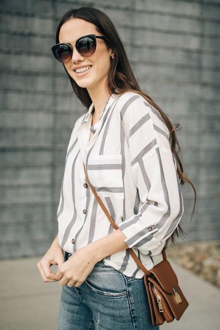 1a484e0a7d6 All Types of Stripes Button Down Top