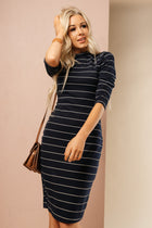 navy striped dress bohme