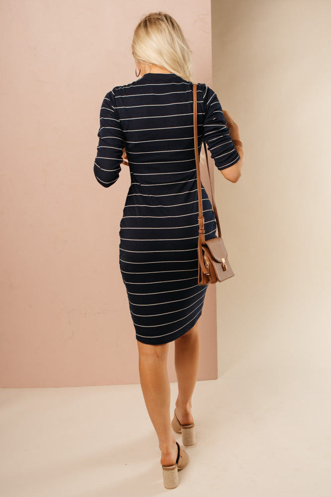 navy dress bohme
