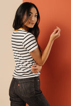white striped tee bohme