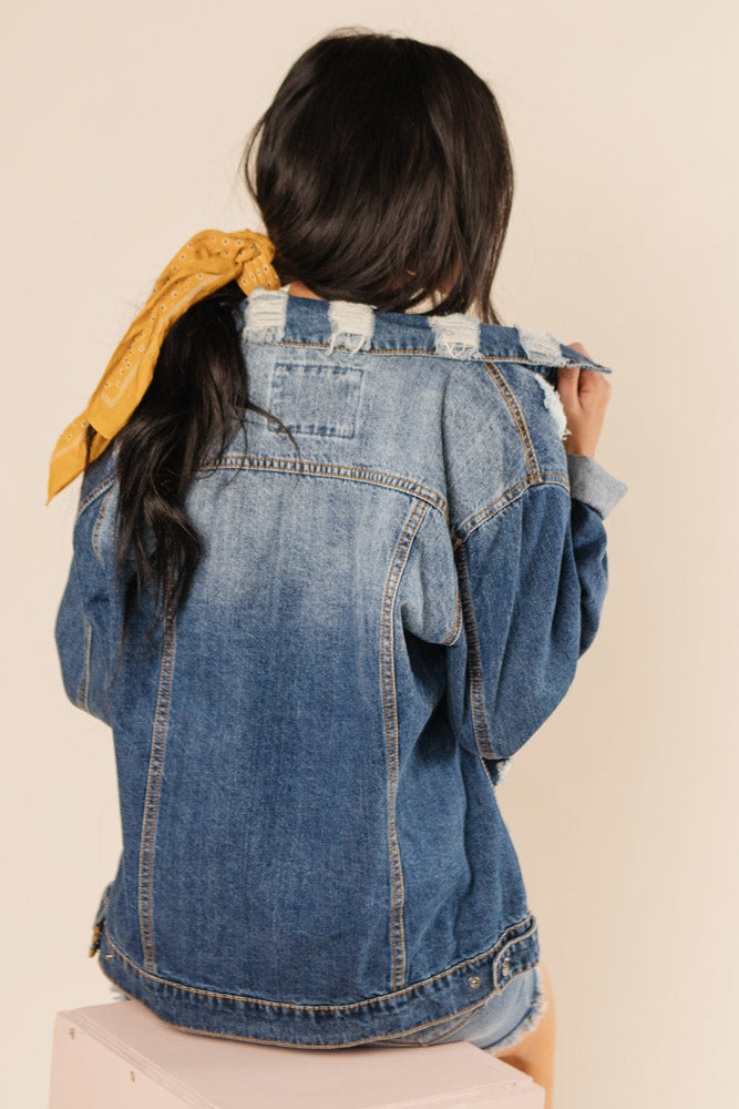 Boyfriend Denim Jacket Bohme