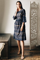 navy lace dress bohme