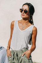 Vero Moda Georgia Striped Tank in White