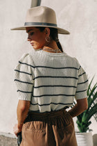 Gabby Striped Knit Top