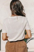 Lola Knit Top in Cream